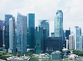 シンガポールの超高層ビル群